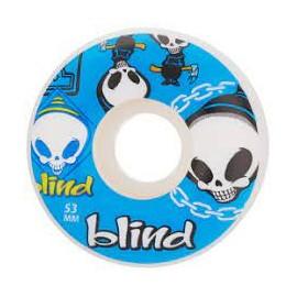 BLIND WHEELS (JEU DE 4) 52MM RANDOM BLUE