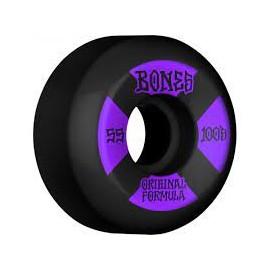 BONES WHEELS (JEU DE 4) 100'S 54MM V5 BLACK SIDECUT