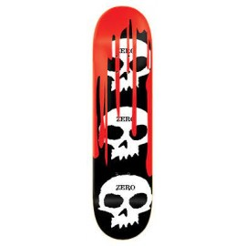ZERO DECK 3 SKULL BLOOD BLACK WHITE RED 8.0 X 31.6
