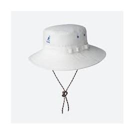 KANGOL UTILITY CORDS JUNGLE HAT OFF WHITE