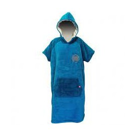 AFTER PONCHO SHERPA ICE BLUE