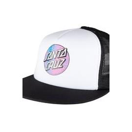 SANTA CRUZ CAP SCALES DOT MESHBACK WHITE/BLACK