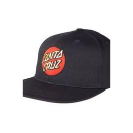 SANTA CRUZ CAP CLASSIC DOT SNAPBACK BLACK