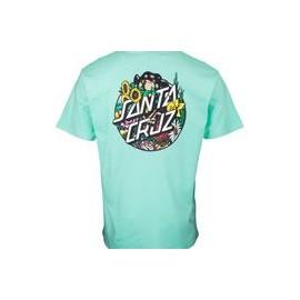 SANTA CRUZ T-SHIRT DRESSEN PUP DOT JADE GREEN