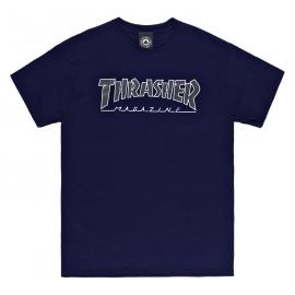 THRASHER T-SHIRT OUTLINE NAVY/BLACK
