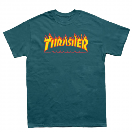 THRASHER T-SHIRT FLAME GALAPAGOS