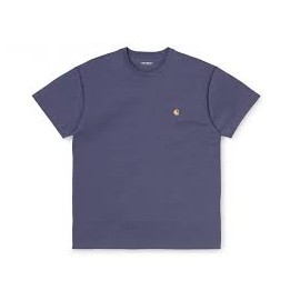 CARHARTT S/S CHASE T-SHIRT 100 % COTTON COLD VIOLA / GOLD