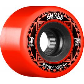BONES WHEELS (JEU DE 4) ATF 59MM ROUGH RIDERS RUNNERS RED 80A