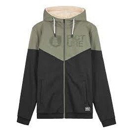 PICTURE BASEMENT PLUSH ZIP HOODIE DUSTY OLIVE