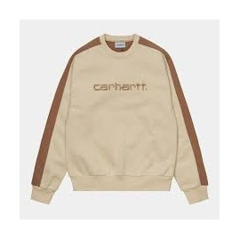 CARHARTT TONARE SWEAT 57/43 % COTTON/POLYESTER DUSTY H BROWN / HAMILTON B