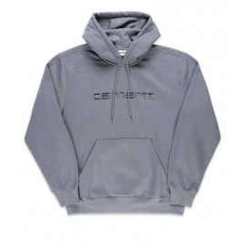 CARHARTT HOODED SWEAT COTTON/POLYESTER SHIVER / BLACKSMITH