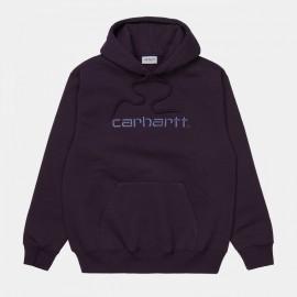 CARHARTT HOODED SWEAT COTTON/POLYESTER DARK / IRIS COLD