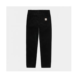 CARHARTT NEWEL PANT 100 % COTTON BLACK RINSED NO LENGHT