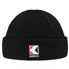 KANGOL SERVICE-K RIB BEANIE BLACK