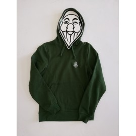 PISOLO BASIC HOODY 68 BOTTLE GREEN (LOGO BLANC)