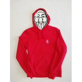 PISOLO BASIC HOODY 35 RED (LOGO BLANC)
