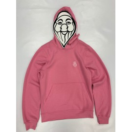 PISOLO BASIC HOODY 250 BRIGHT PINK (LOGO BLANC)