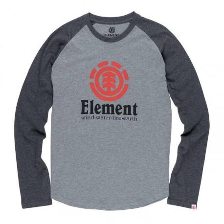 3/4 Element Gris et noir Homme Vertical Raglan