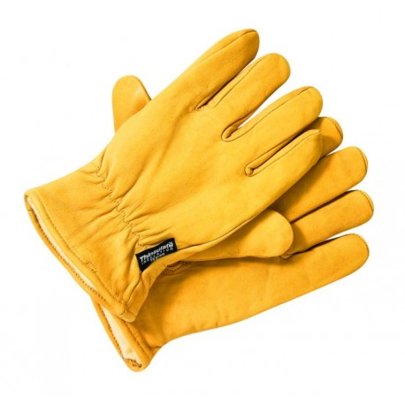 DICKIES LINED LEATHER GLOVE TAN