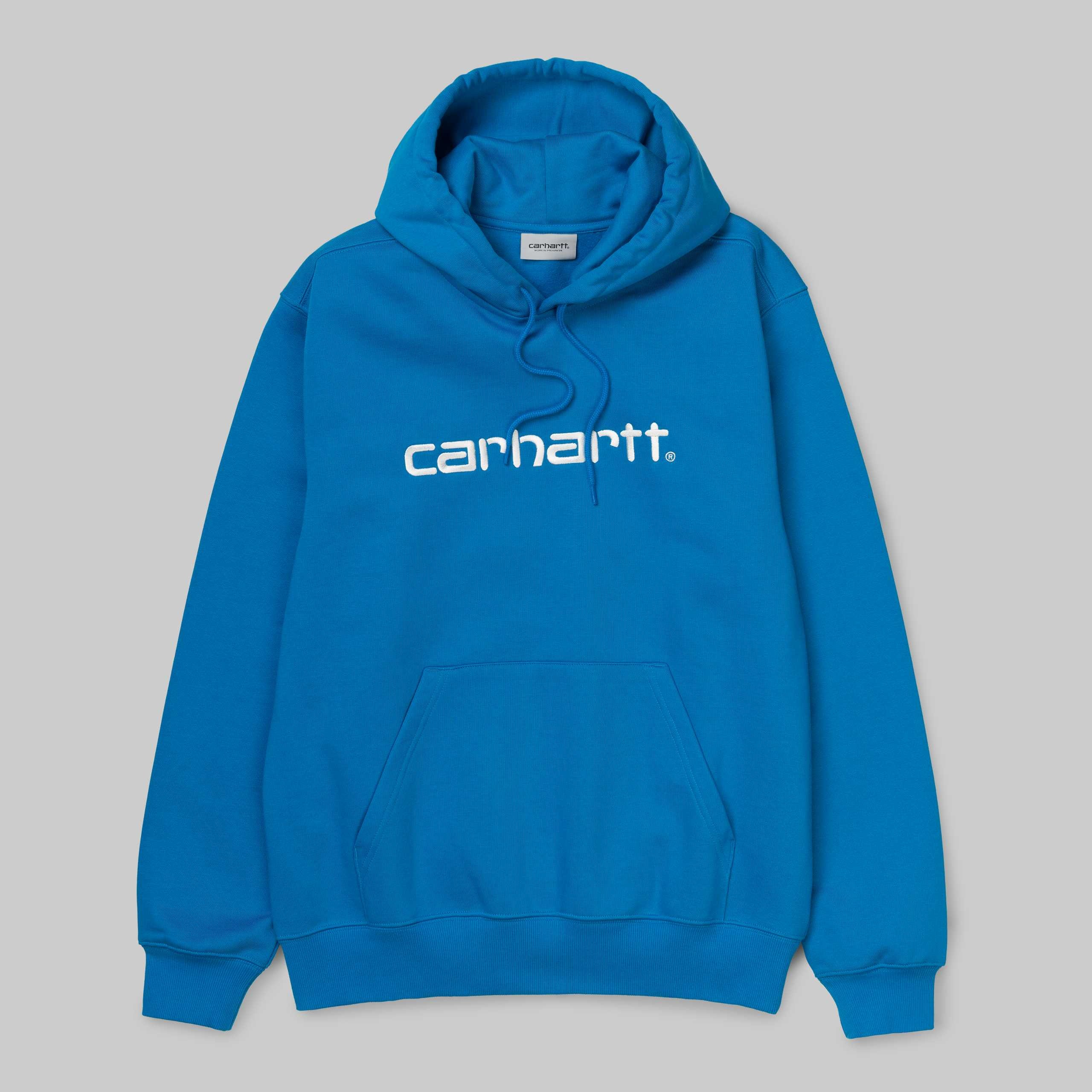 SWEAT A CAPUCHE CARHARTT BLEU ECRIT CARHARTT