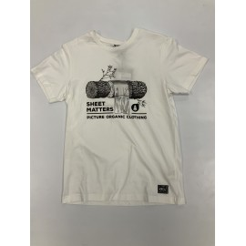 PICTURE LOG TEE WHITE