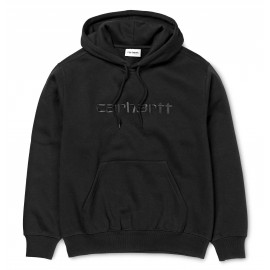 CARHARTT HOODED SWEAT BLACK/BLACK