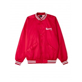 OBEY SATIN BOMBER RED TAILLE L