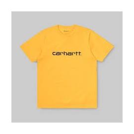 CARHARTT S/S SCRIPT T-SHIRT SUNFLOWER/BLACK