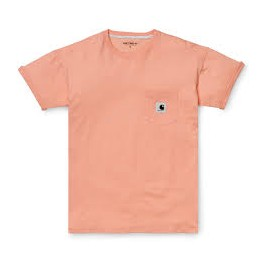 CARHARTT W' S/S CARRIE POCKET T-SHIRT FROSTED PINK