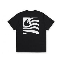 CARHARTT S/S WAVING STATE FLAG T-SHIRT BLACK/WHITE