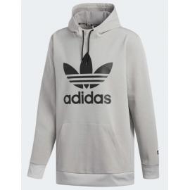 Hoodie Hommes Adidas Team Tech Gris Noir