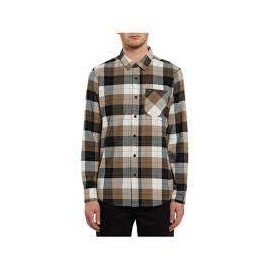 VOLCOM CADEN PLAID L/S PRIMER WHITE JUNIOR