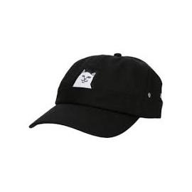 RIPNDIP LORD NERMAL 6 PANEL POCKET HAT BLACK