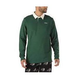 VANS MN SIXTY SIXERS RUGBY POLO PINE NEEDLE