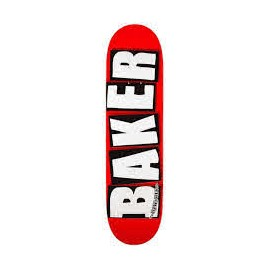BAKER DECK BRAND LOGO WHITE 8.125 X 31.25