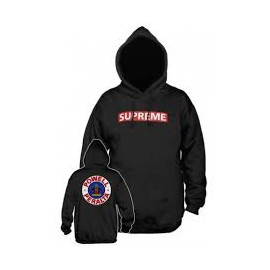 POWELL PERALTA SWEAT SUPREME HOOD BLACK RED