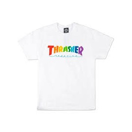 THRASHER T-SHIRT RAINBOWMAG SS WHITE
