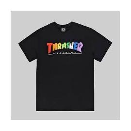 THRASHER T-SHIRT RAINBOWMAG SS BLACK