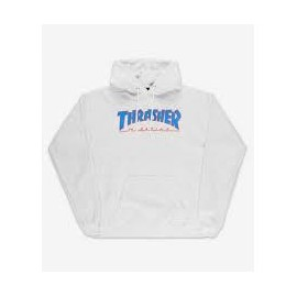 THRASHER SWEAT OUTLINED HOOD ASH GREY