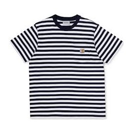CARHARTT S/S SCOTTY POCKET SCOTTY STRIPE DARK NAVY