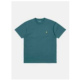 CARHARTT S/S CHASE T-SHIRT HYDRO/GOLD