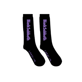 LAKAI BLACK SABBATH CREW SOCKS BLACK