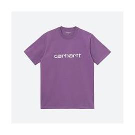 CARHARTT S/S SCRIPT T-SHIRT ASTER / WHITE