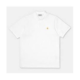 CARHARTT S/S CHASE PIQUE POLO WHITE/GOLD