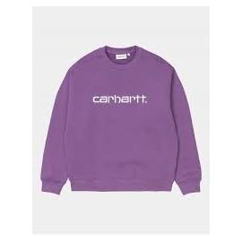 CARHARTT SWEAT ASTER/WHITE