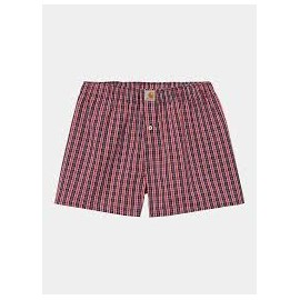 CARHARTT COTTON BOXERS 100 % COOTON JAMES CHECK ETNA RED