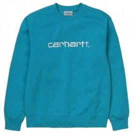 CARHARTT SWEAT 58/42 % COTTON/POLYESTER BONDI/WHITE